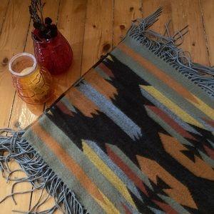 Boho Fringe Shawl ethnic hippy scarf mexican wrap
